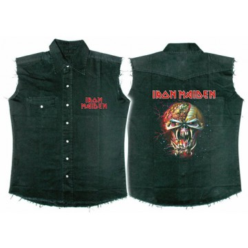 Iron Maiden The Final Frontier Face Workshirt