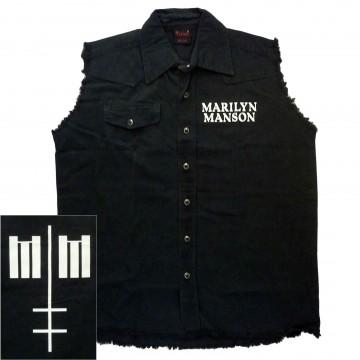 Marilyn Manson Cross Logo Workshirt